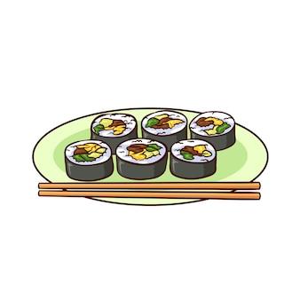 Kimbap é uma comida típica da coréia