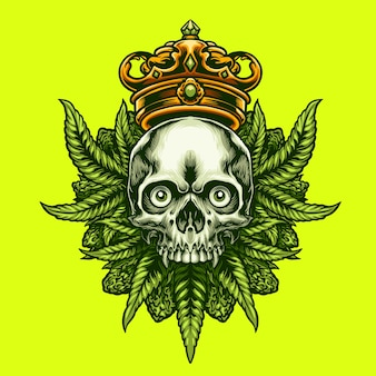 King cannabis skull
