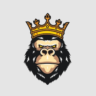 King gorilla logo modelo