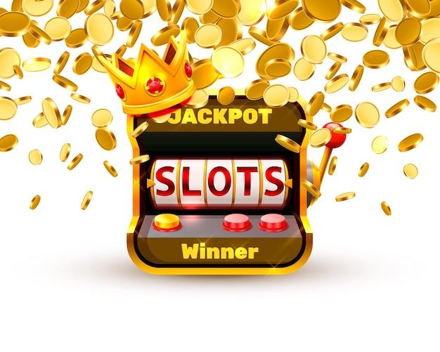 King slots 777 banner casino no fundo branco. ilustração vetorial