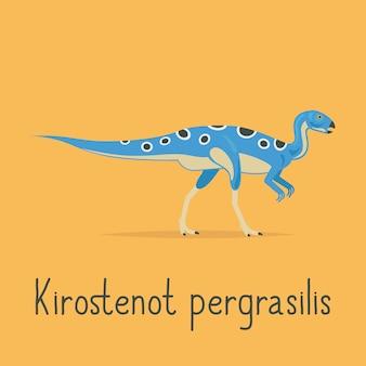 Kirostenot pergrasilis dinossauro cartão colorido