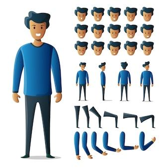 Kit casual masculino de conjunto de caracteres