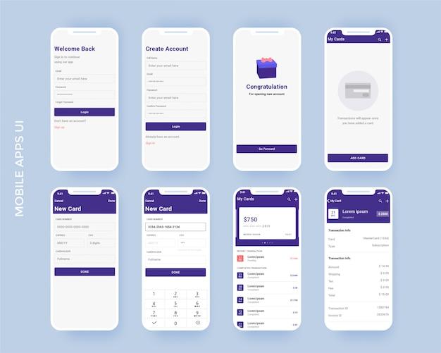 Kit de aplicativos de finanças móveis