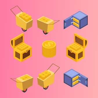 Kit de armazenamento de tesouro