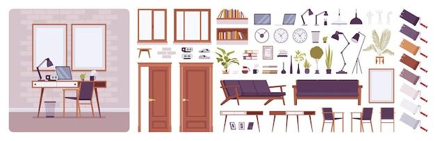 Kit de criação de sala de casa ou escritório