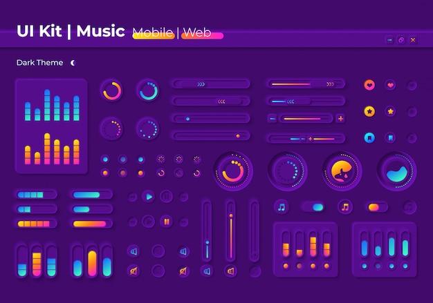 Kit de elementos de interface do usuário de música