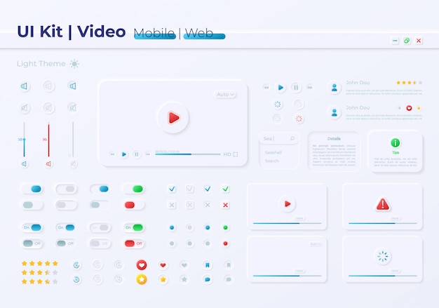 Kit de elementos de interface do usuário de opções de multimídia