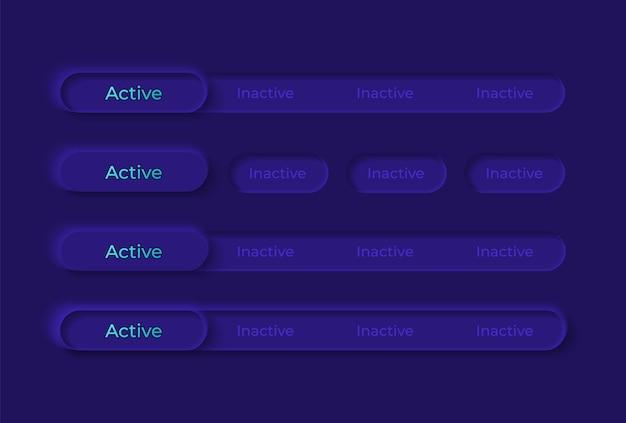 Kit de elementos de interface do usuário de switches