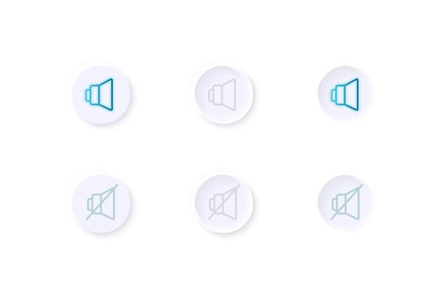 Kit de elementos de interface do usuário para ajuste de volume