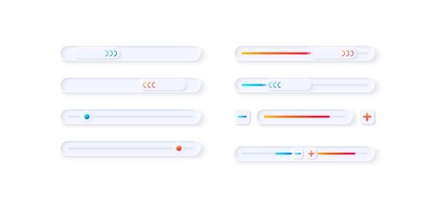 Kit de elementos de interface do usuário para ajuste do jogador