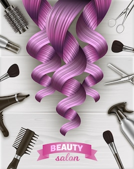 Kit de ferramentas de cabeleireiro.