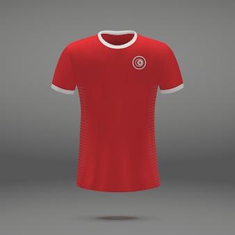 Kit de futebol da tunísia, modelo de camiseta para camisa de futebol