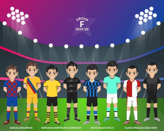 Kit de futebol de futebol do campeonato europeu do grupo f