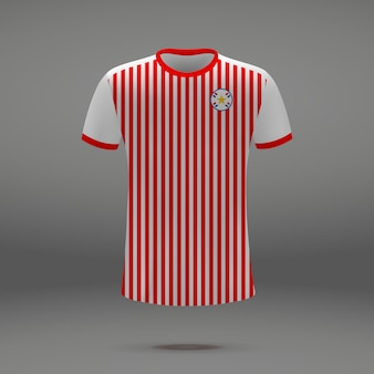 Kit de futebol do paraguai, modelo de camiseta para camisa de futebol