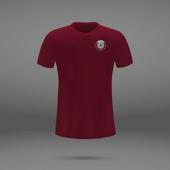 Kit de futebol do qatar, modelo de camiseta para camisa de futebol