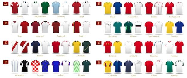 Kit de futebol ou modelo de camisa de futebol
