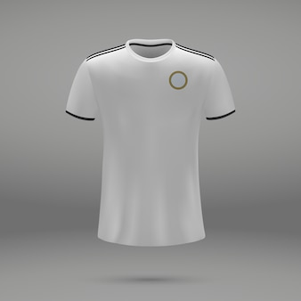 Kit de futebol real, modelo de camisa para camisa de futebol