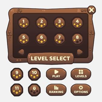 Kit de gui de modelo de jogo vetorial