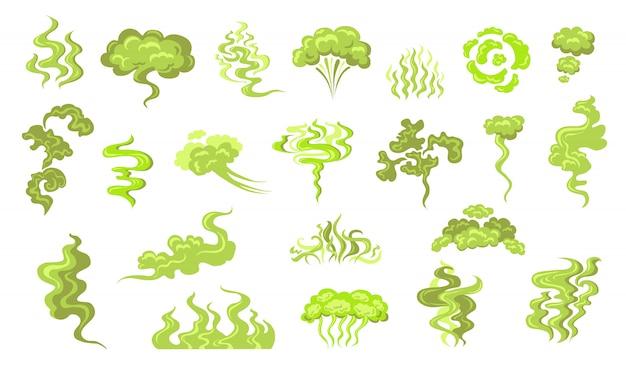 Kit de ícones de cheiro de fumaça
