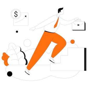 Kit de ilustração de estilo simples de negócios para investidores