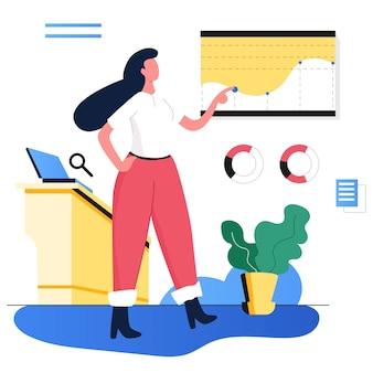Kit de ilustração de marketing de análise de desenvolvimento