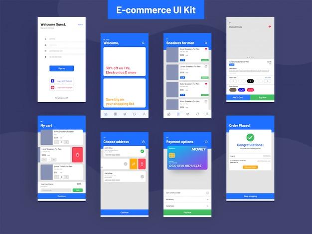 Kit de interface do usuário de comércio eletrônico para desenvolvimento de aplicativos