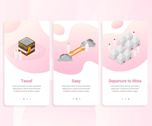 Kit de interface do usuário para o guia hajj passo a passo