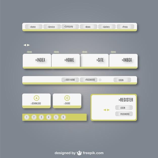 Kit de interface web de usuário elementos