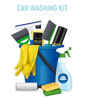 Kit de lavagem de carro