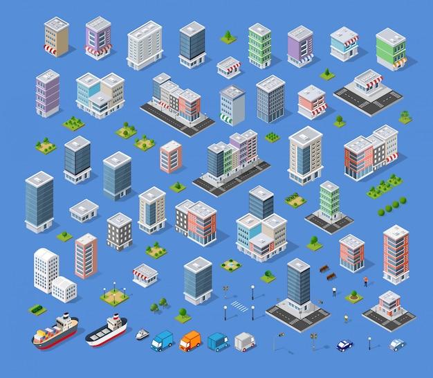 Kit de mapa da cidade de construção
