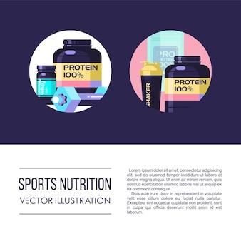 Kit de nutrição esportiva.