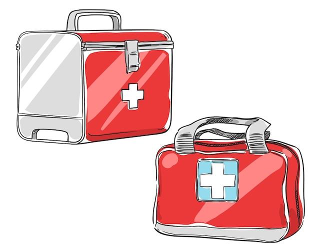 Kit de primeiros socorros, ilustração vetorial