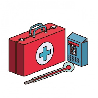 Kit de primeiros socorros isolado