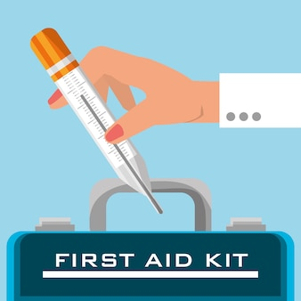 Kit de primeiros socorros mala com ferramentas médicas