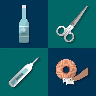 Kit de primeiros socorros medical health