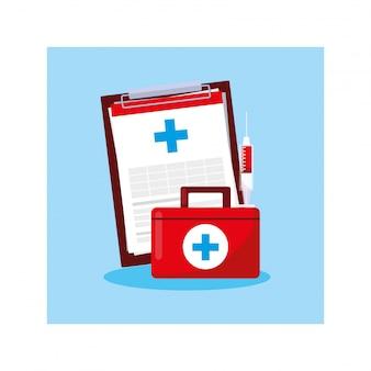 Kit de primeiros socorros médico, dia da saúde