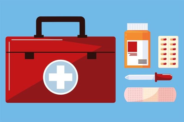 Kit de remédios e drogas