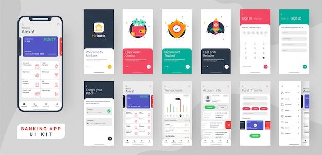 Kit de ui de aplicativo bancário.
