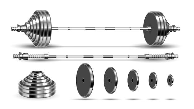 Kit dobrável para musculação barbells