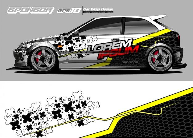 Kit gráfico de veículo. abstrato moderno para a marca do envoltório do carro e decalques de etiqueta de automóvel
