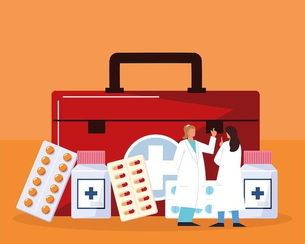 Kit médico farmacêutico