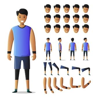 Kit sportman de conjunto de caracteres