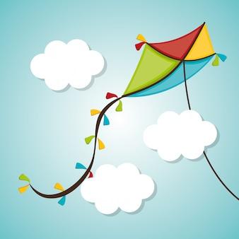 Kite e design de infância.