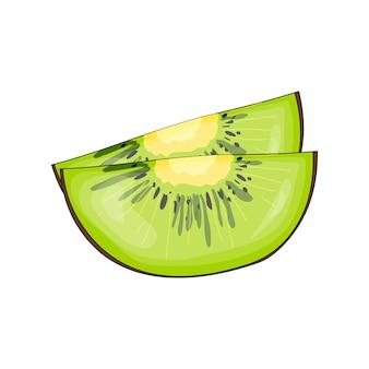Kiwi em estilo bonito dos desenhos animados. ilustração vetorial isolada no fundo branco.