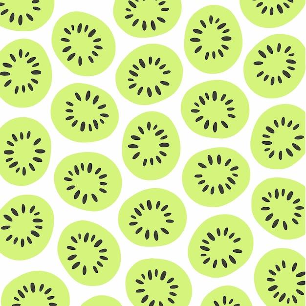 Kiwi padrão de fundo mídia social postar ilustração vetorial de frutas