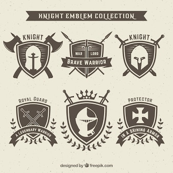 Knight emblem design set