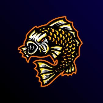 Koi mascote logotipo esport gaming