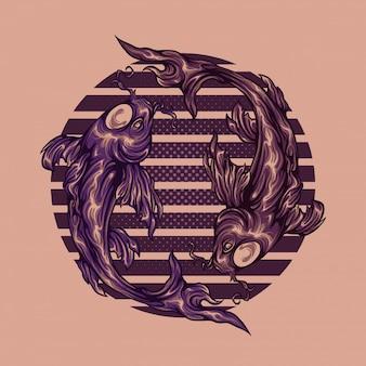 Koi yin yang