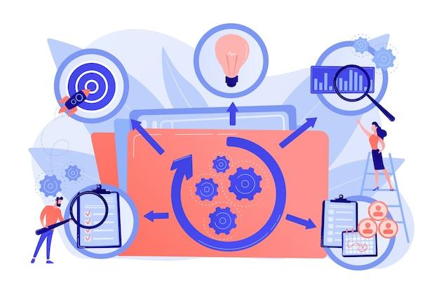 Kpi e gerenciamento de tarefas. otimização do fluxo de trabalho