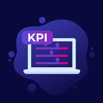 Kpi, ícone indicador de negócios